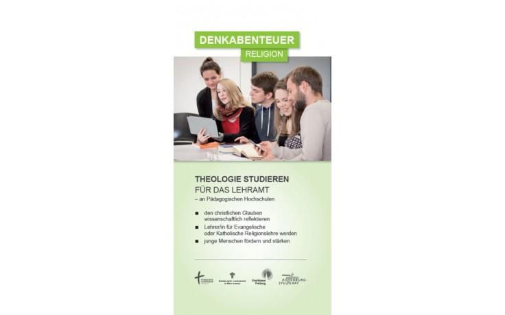 Flyer Denkabenteuer Religion - Theologie studieren für das Lehramt an Pädagogischen Hochschulen