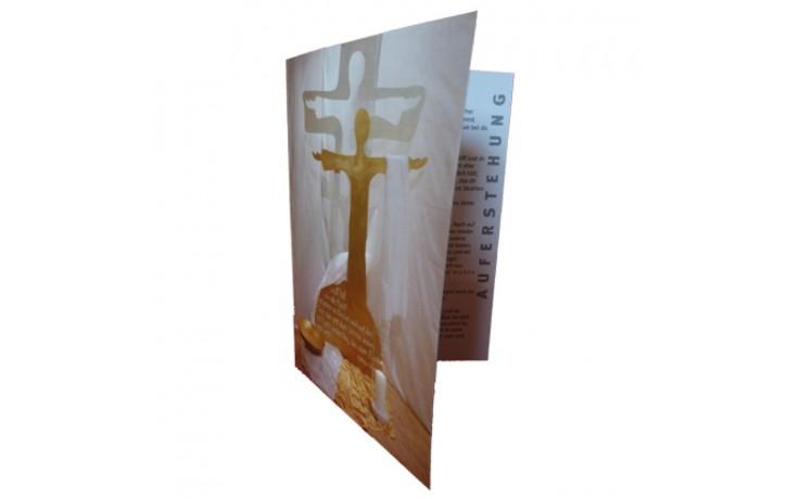 Karte zum Ostergarten mit Auferstehungskreuz - 10er-Pack