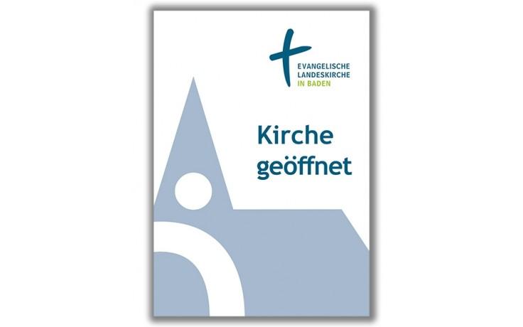 """Plakat """" Kirche geöffnet """" A2"""