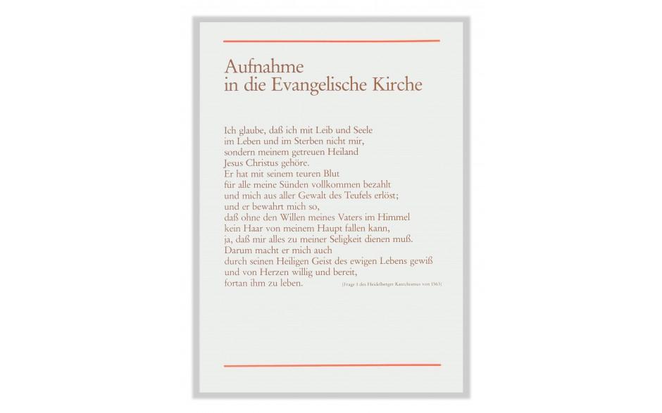 Aufnahme in die Evangelische Kirche Urkunde