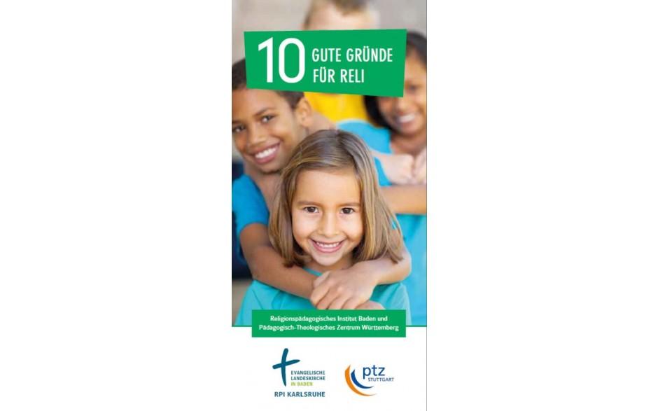 Flyer 10 gute Gründe für Reli