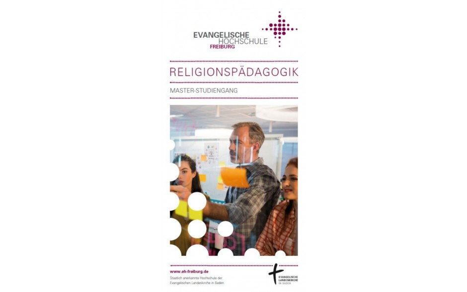 Flyer Master-Studiengang Religionspädagogik EH Freiburg