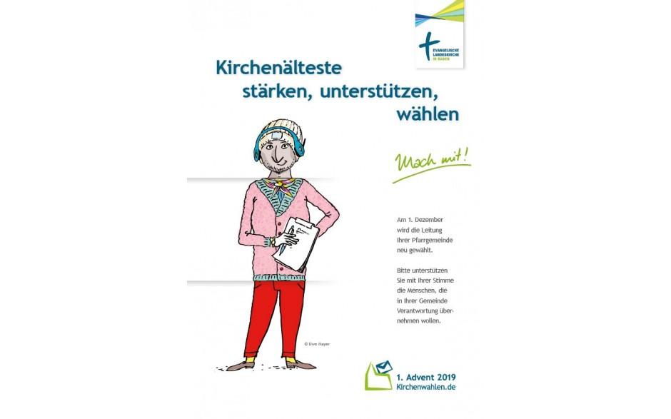 Plakat A4 zur Wahlwerbung