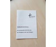 Gottesdienstordnung bei unerwarteter Verhinderung der Predigerin oder des Predigers