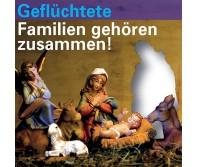 Gefluechtete Familien gehoeren zusammen (Postkartenserie 4er Set)