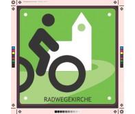 Schild Radwegskirche
