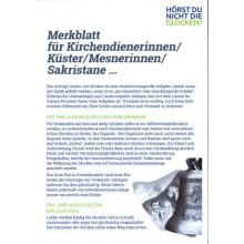 Merkblatt für Kirchendienerinnen/Küster/Mesnerinnen/sakristane....