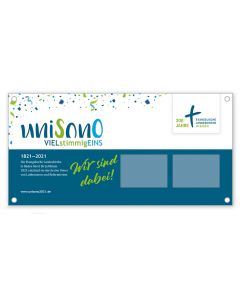 Unisono - Banner  zum Ausleihen