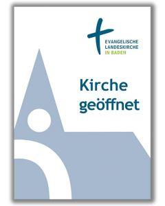 """Plakat  """" Kirche geöffnet"""" A1"""
